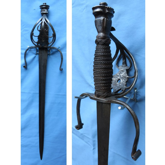 Antique French Left Handed Dagger Feature