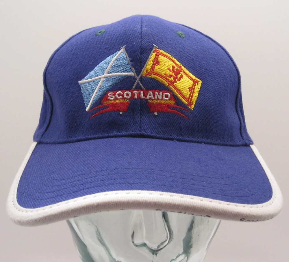 Blue Crossed Flags Cap front