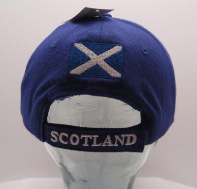 Blue Scotland Cap back