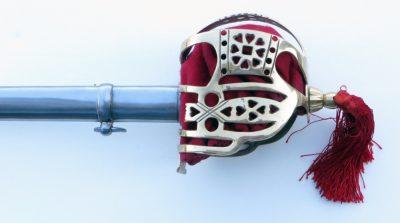 Brass Scottish Basket hilt detail