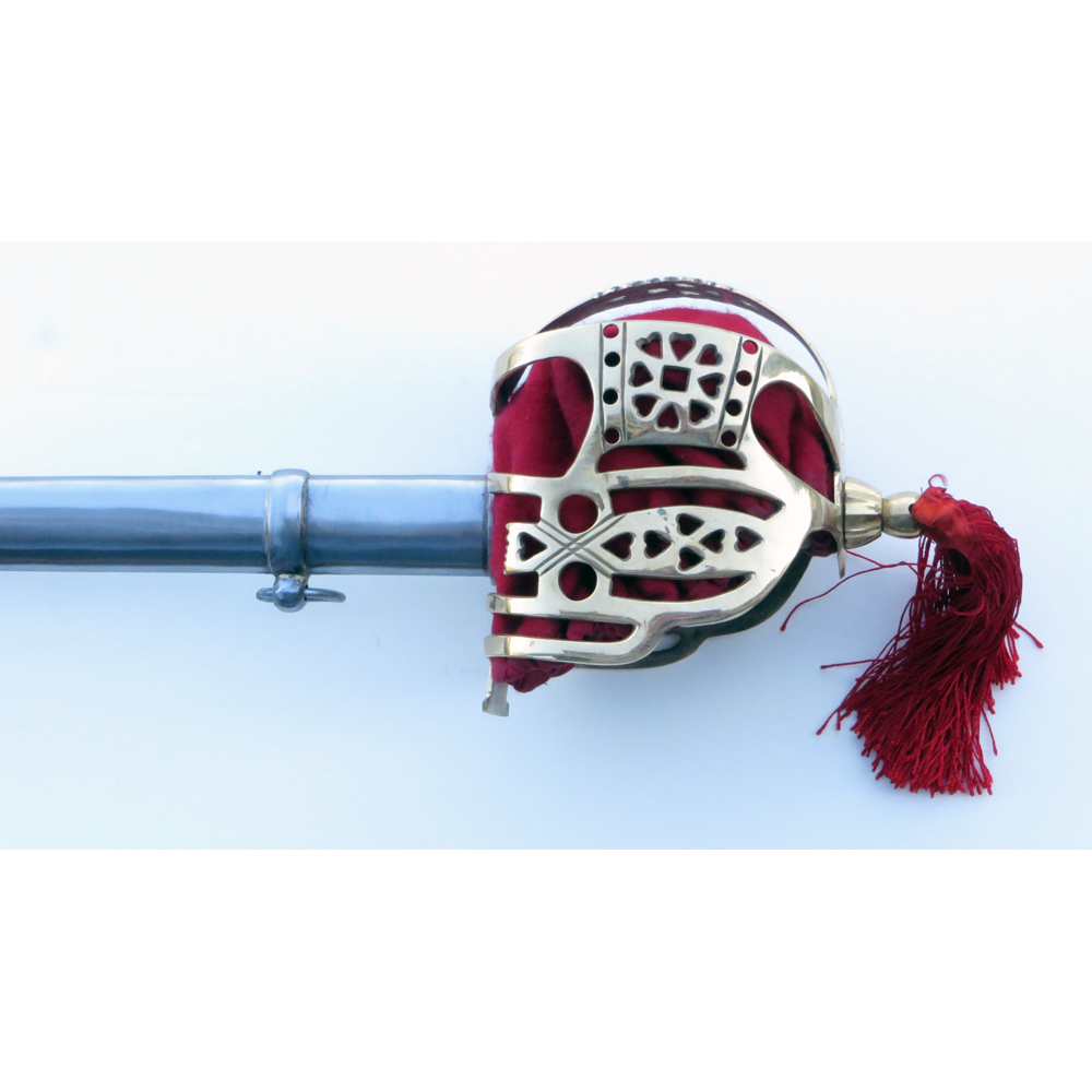 Brass Scottish Basket hilt feature