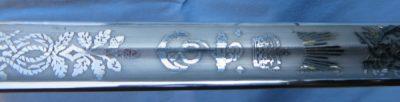 British Naval Wilkinson Sword Made in England of 1969 Engravings
