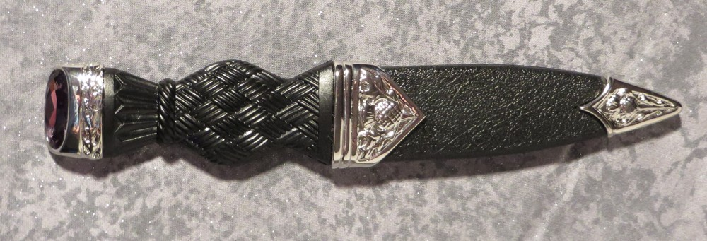 Dress Sgian Dubh with Stone side