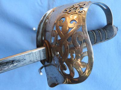 Edward VII British Infantry Dress Sword Hilt Detail