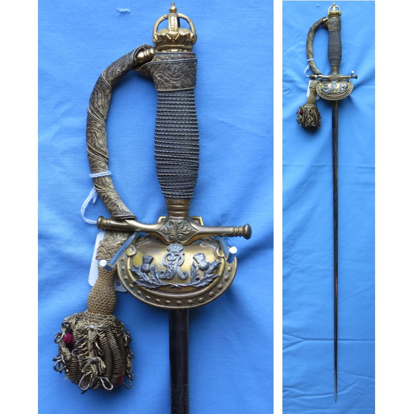 George V Scottish Company of Archers Royal Company Sword Feature