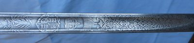George VI Collectible Sword with Sword Pattern 1936-1952 Engraved Blade