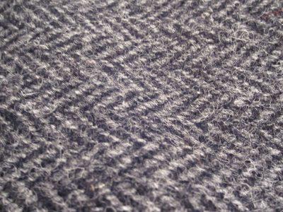 Harris Tweed Charcoal detail