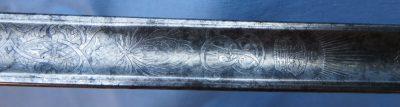 Infantry Officer Dress Sword Engravings