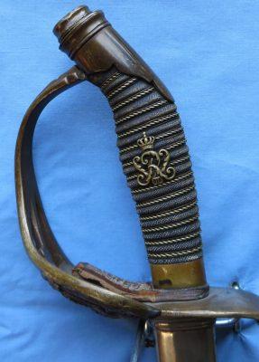 Prussian Model 1889 Infantry Officer Sword (1821) Hilt Front