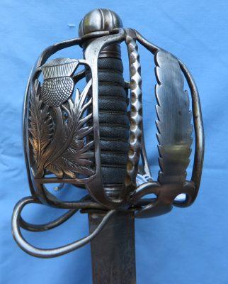 Scottish Basket Hilt Sword 1790 Basket Hilt Back