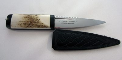 Sgian Dubh staghorn thistle top front