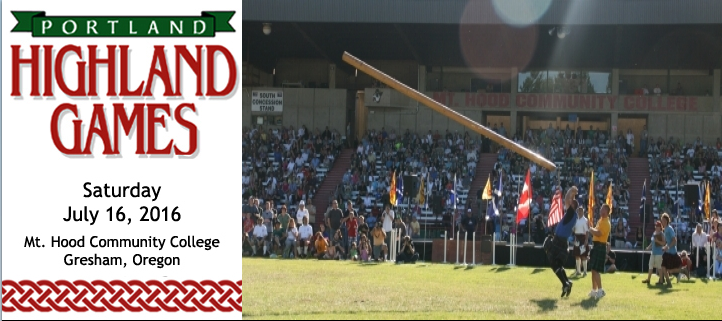 Portland Highland games - July 16, 2016