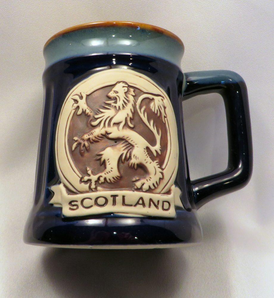 Blue Lion Rampant Stoneware Mug front
