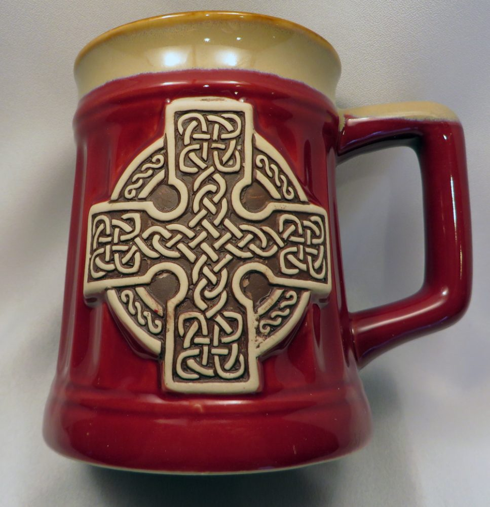 Red Celtic Cross Stoneware Mug