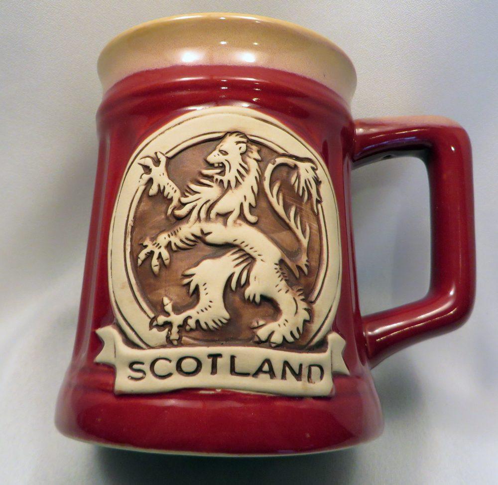 Red Lion Rampant Stoneware Mug front