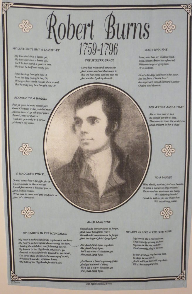 Robert Burns Tea Towel