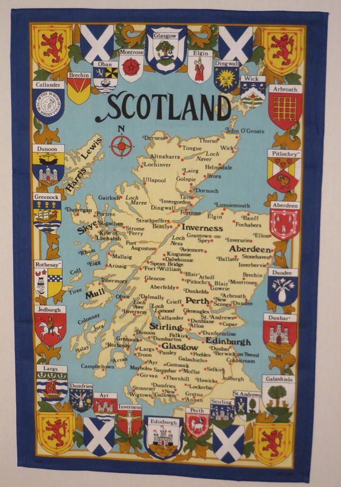 Scotland Town Crest Map