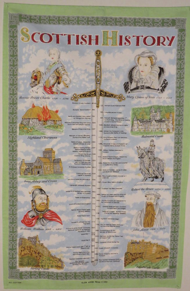 Scottish History Tea Towel Full