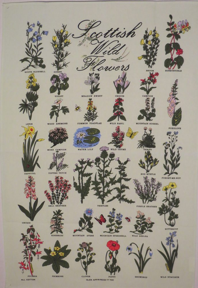 Scottish Wild Flowers Tea Towel