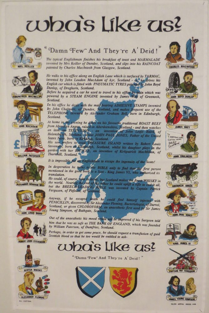 Whas like us tea towel