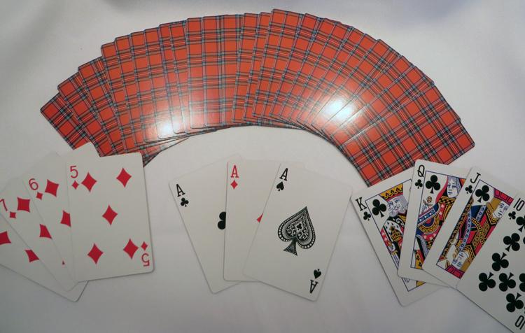 tartan playing cards