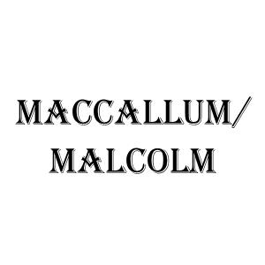 Malcolm/MacCallum